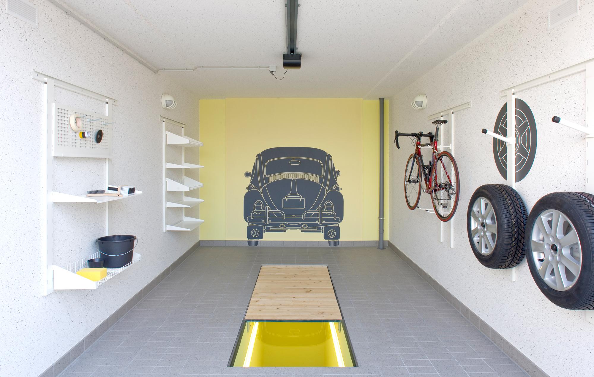 Ausstattung Garage mit Montagegrube