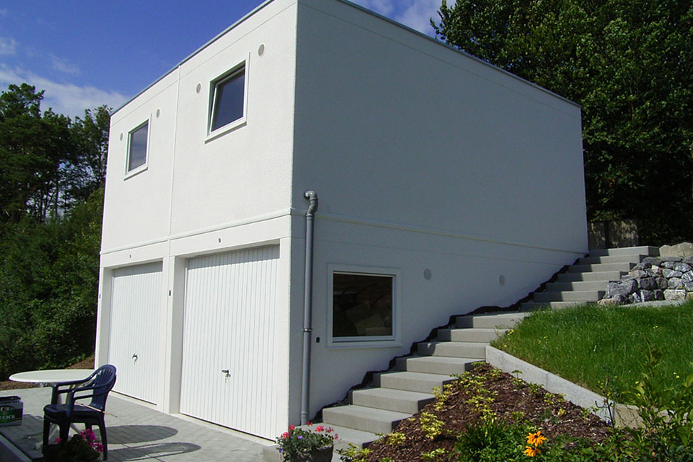 Doppelgaragen als Doppelstock-Garagen